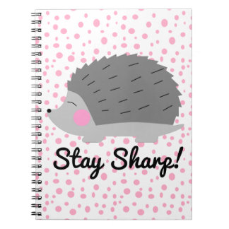 Stay Sharp Hedgehog Notebook