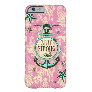 Stay strong nautical anchor art in retro style. barely there iPhone 6 case