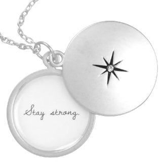 Stay Strong Necklace White
