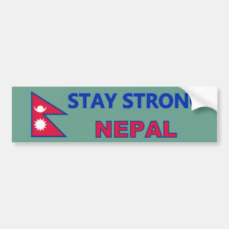 Stay Strong Nepal Bumper Sticker