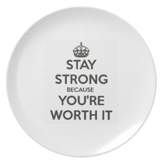 Stay Strong Dinner Plates