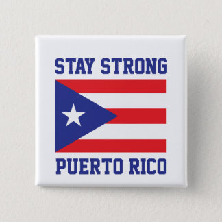 Stay Strong Puerto Rico 15 Cm Square Badge