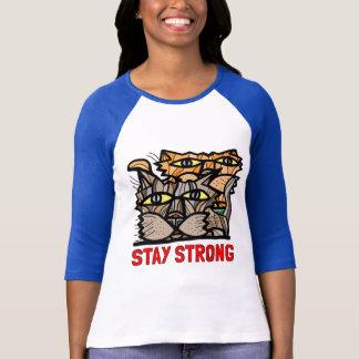 """Stay Strong"" Women's 3/4 Sleeve Raglan T-Shirt"