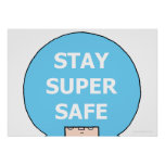 "STAY SUPER SAFE (headshot) 28 x 20"" Value Poster"