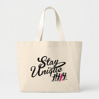 stay unique jumbo tote bag