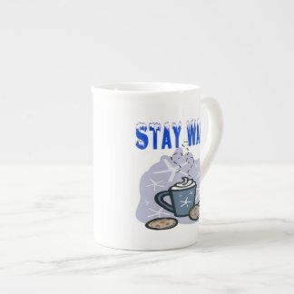 Stay Warm 4 Bone China Mugs