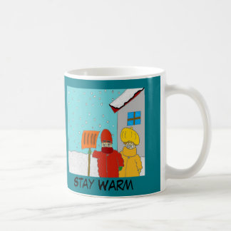 """Stay Warm"" Fun In the Snow coffee mug"