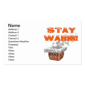 Stay Warm Pack Of Standard Business Cards
