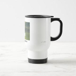 Stay warm while fishing coffee mug