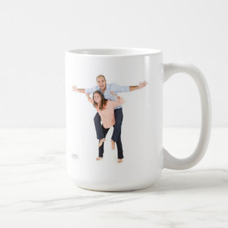 stay warm with piggy back mack! basic white mug