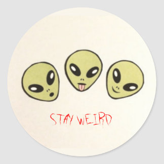 Stay Weird Alien Stickers