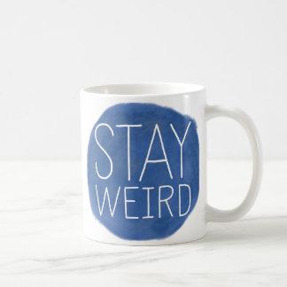 Stay Weird Basic White Mug