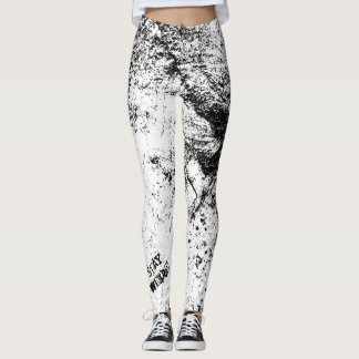 Stay Weird Fashion Leggings by Julie Everhart