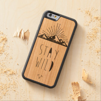 STAY WILD CARVED CHERRY iPhone 6 BUMPER CASE