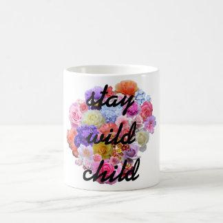 Stay Wild Child Ceramic Blooming Flower Mug