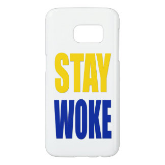 Stay Woke Samsung Case - White