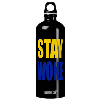 Stay Woke Sigg Water Bottle - Black