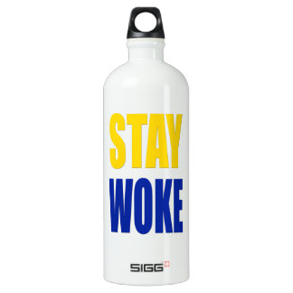 Stay Woke Sigg Water Bottle - White