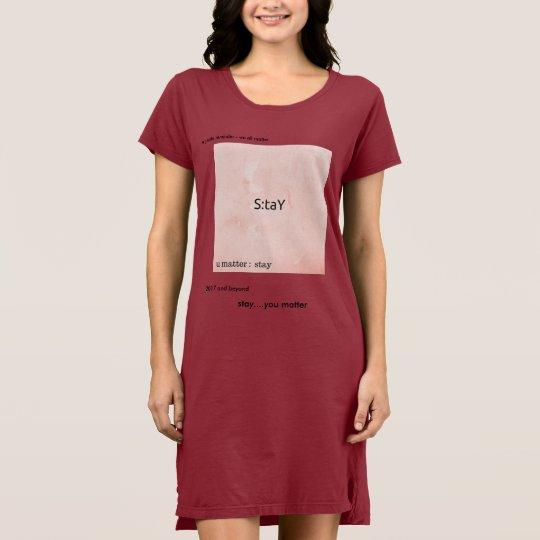 stay womens t-shirt dress