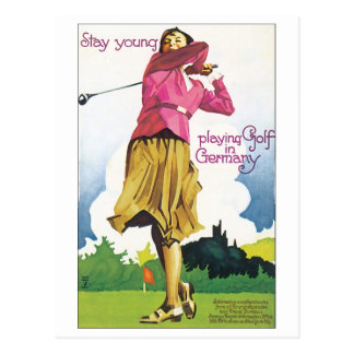 Stay Young Playing Golf in Germany Postcard