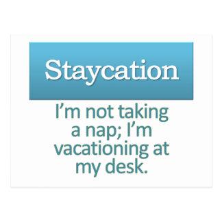 Staycation  postcard