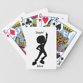 Staying alive bicycle card deck
