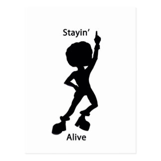 Staying alive postcard