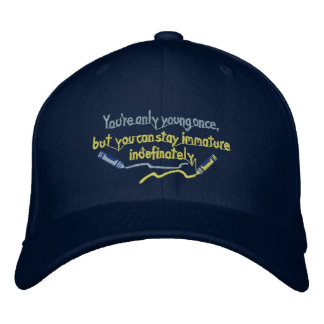 Staying Immature Hat Embroidered Baseball Cap
