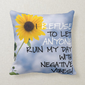 Staying Positive Text With A Sunflower In The Sky Cushion