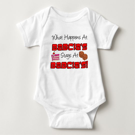 Stays At Babcia's Baby Bodysuit