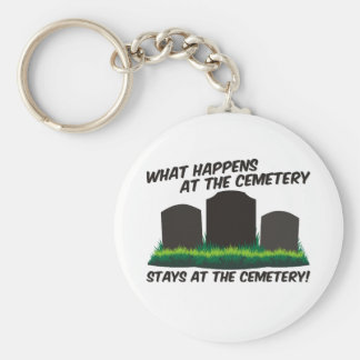Stays At Cemetery Basic Round Button Key Ring
