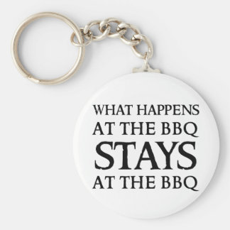 STAYS AT THE BBQ BASIC ROUND BUTTON KEY RING