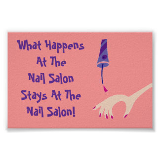 Stays @ Nail Salon Poster