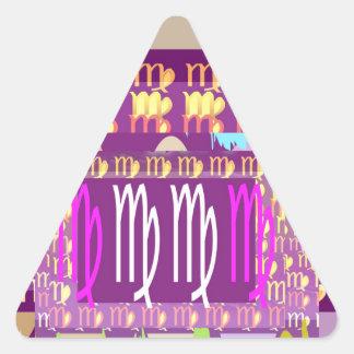 STBX Zodiac VIRGO Collection Triangle Sticker