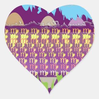 STBX Zodiac VIRGO Dedication Decorations Heart Sticker