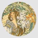 Stcker:  Mucha - Language of Flowers Stickers