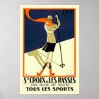 """""""Ste Croix et Les Rasses"""" Swiss Vintage Travel Poster"""