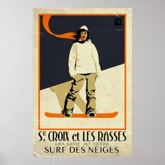 Ste Croix et Les Rasses - Vintage Effect Posters