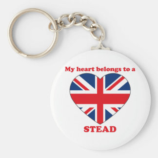 Stead Basic Round Button Key Ring
