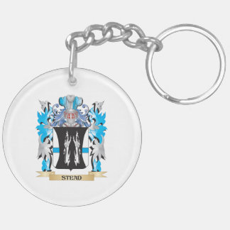 Stead Coat of Arms - Family Crest Double-Sided Round Acrylic Key Ring
