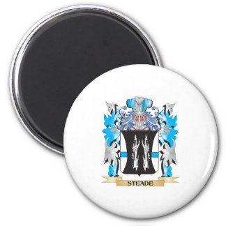 Steade Coat of Arms - Family Crest 6 Cm Round Magnet