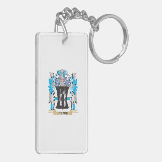 Steade Coat of Arms - Family Crest Double-Sided Rectangular Acrylic Key Ring