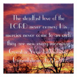 steadfast love of the Lord bible verse sunriseThis Poster
