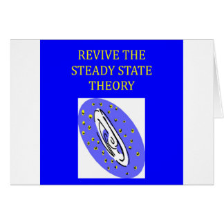 steady state theory greeting card