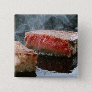 Steak 3 15 cm square badge
