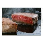 Steak 3 greeting card