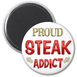Steak Addict 6 Cm Round Magnet