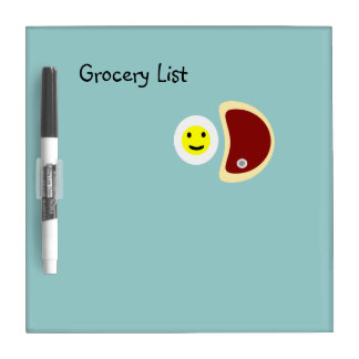 Steak and Eggs Grocery List 4.1 Dry-Erase Whiteboards