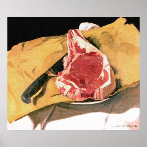 Steak Painting - Vintage Art by Felix Vallotton Poster