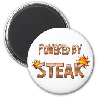 Steak Power 6 Cm Round Magnet